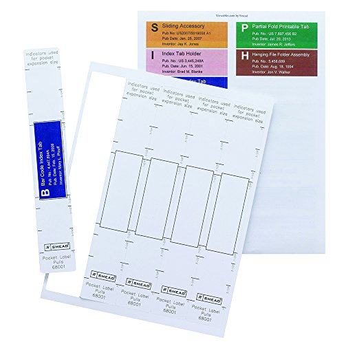 Smead Viewables Pocket Label Pulls, Paper/Poly Laminate, 45 Per Pack (68001) - Poly Paper Labels