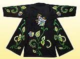 BEAUTIFUL UZBEK SILK EMBROIDERED ROBE CHAPAN''SPRING FLOWERS'' V3337