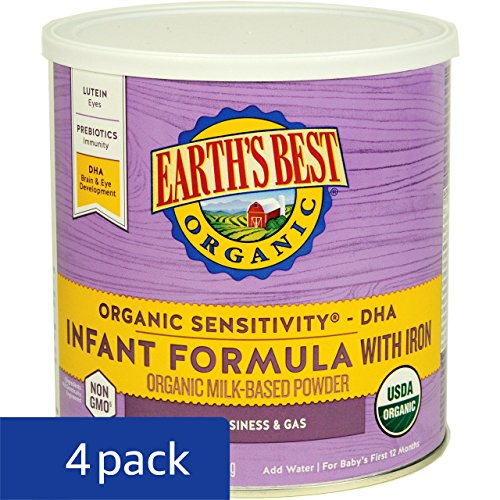 Earth's Best Baby Organic Sensitivity Infant Formula with Iron, 23.2 Ounce (Pack of 4) by Earth's Best (Image #5)