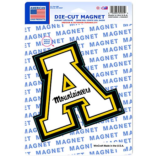 American Logo Products Appalachian State Mountaineers Logo Magnet