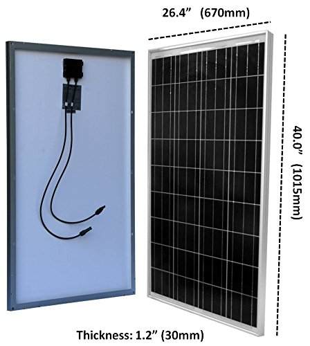 WindyNation-100-Watt-Solar-Panel-Off-Grid-RV-Boat-Kit-with-LCD-PWM-Charge-Controller-Solar-Cable-MC4-Connectors-Mounting-Brackets