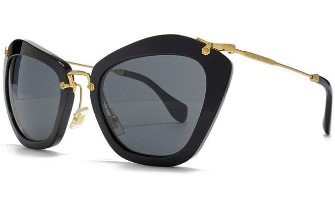 Amazon.com: Miu Miu mu10ns 1 ab1 a1 Gafas de sol, 55 mm ...