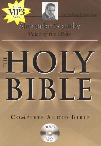 Alexander Scourby - King James Version - Audio Bible - Complete Audio Holy Bible - Mp3 - 2 Discs - Audio CD - Audiobook