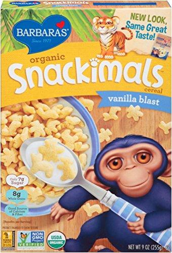 Barbara's Bakery Organic Snackimals Cereal, Vanilla Blast, 9 Ounce