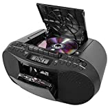 Electronics : Sony CFDS70-BLK CD/MP3 Cassette Boombox Home Audio Radio, Black, With Aux Cable