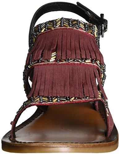 7350 Rot Tira Bordeaux Tobillo Inuovo Mujer pewter de 1Badqw