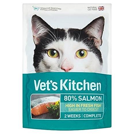 770g de salmón cocina ultra fresca comida para gatos del veterinario: Amazon.es: Jardín