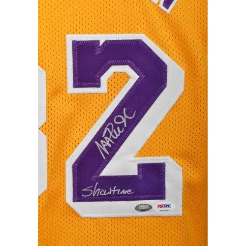 check out 3c844 88b22 high-quality Framed Magic Johnson Signed Jersey w/ Showtime ...
