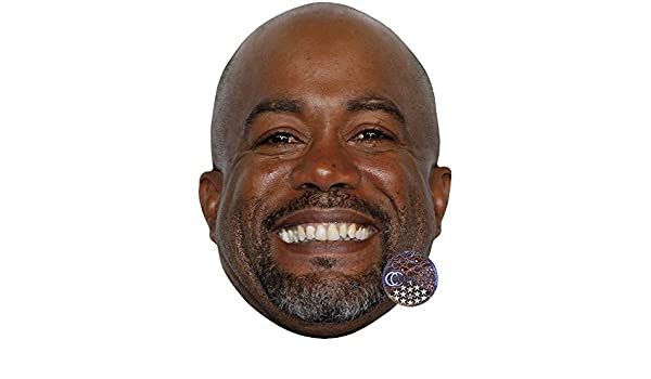 Darius Rucker Celebrity Mask Card Face and Fancy Dress Mask