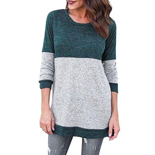 54dc0968a8aef6 Taore 2017 Autumn Women s Loose Long Sleeve Strip Elbow Patch Tunic Shirt T- Shirt Dress