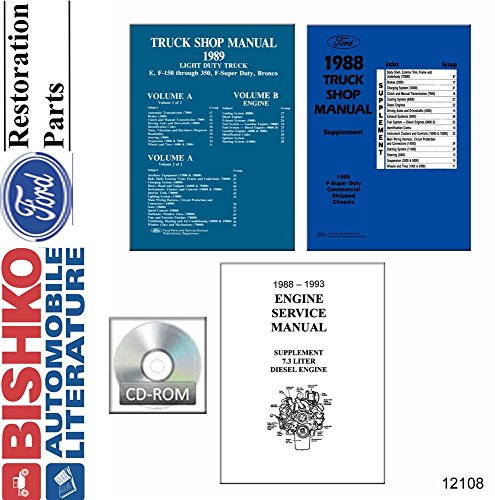 bishko automotive literature 1989 Ford Bronco Econoline F100-F350 E-Series F-Super Lt Duty Shop Manual ()