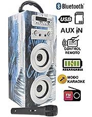 DYNASONIC Haut-Parleur avec Karaoke, Radio, Microphone, USB et SD (025)