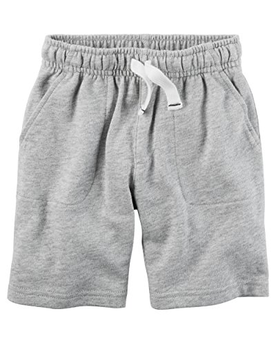 Carter's Baby Boys' French Terry Shorts (Baby) (18 Months, Light Grey)