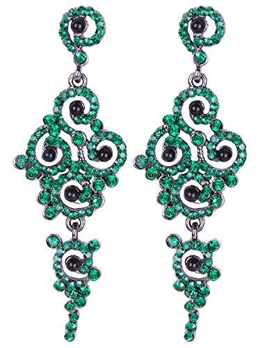 Vijiv Gatsby Earrings Art Deco Vintage 1920s Flapper Jewelry Accessories Party - Gatsby Costume Ideas Women