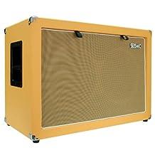 Seismic Audio-2x12 Guitar Speaker Cab Empty-7 Ply Birch-212 Speakerless Cabinet New 12-Inch Tolex-Orange Tolex-Wheat Cloth Grill-Front or Rear Loading Options