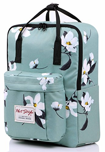 "BESTIE 14"" College Bookbag Backpack Cute for Women, Magnolia Mint"