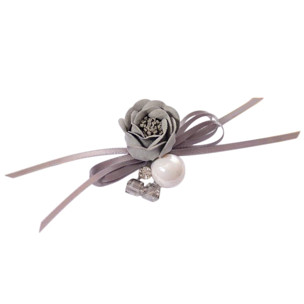 Gespout Broche femme Fleurs grises Bowknot Alliage Décoration de mariage Cadeau