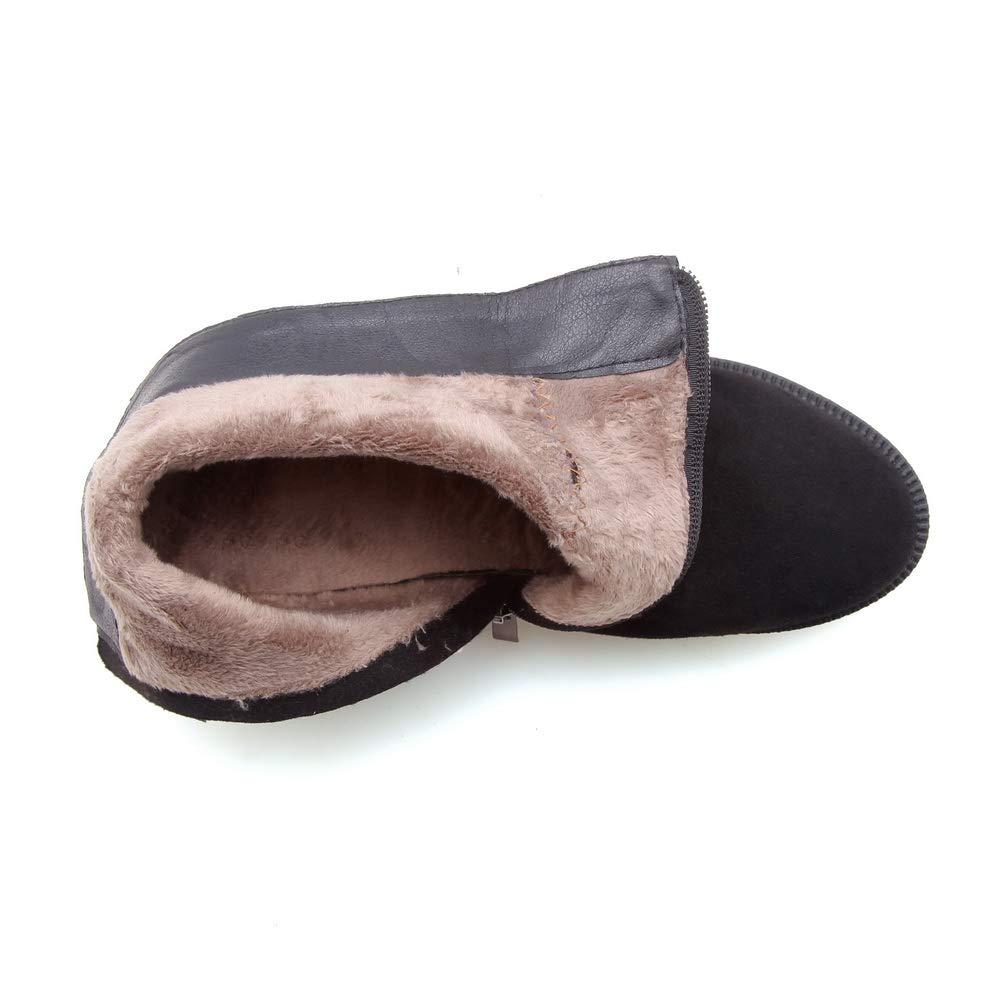 BalaMasa Womens Bucket-Style Nubuck Casual Urethane Boots ABM13455
