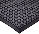 Ergomat Polyurethane Anti-Fatigue and Anti-Static Mat, for Dry and Damp Areas, 2' Width x 3' Length x 0.62'' Thickness, Gray