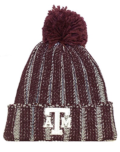 (NCAA Officially Licensed Texas A&M Aggies Knit Cuffed Pom Beanie Hat)