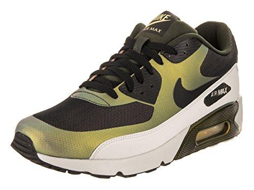 Nike Mens Air Max 90 Ultra 2.0 SE Running Shoes Pale Citron Black Bio Beige 876005-700 Size 11.5