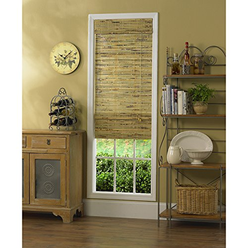 Beige Bamboo Woven Window Sliding Doors Shades, 78u0027u0027W X 84u0027u0027