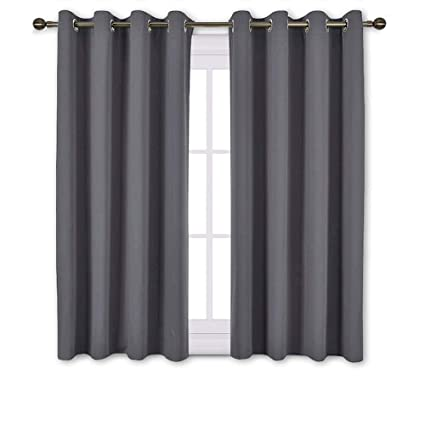 NICETOWN Blackout Curtains Panels for Bedroom - Window Treatment Thermal  Insulated Solid Grommet Blackout Drapes for Living Room (Set of 2 Panels,  52 ...