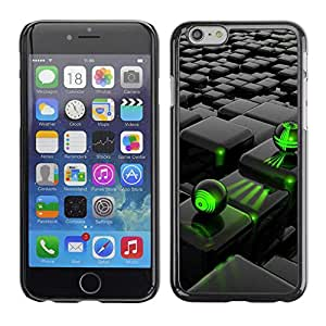 """Exotic-Star ( Abstract Green Black ) Fundas Cover Cubre Hard Case Cover para 4.7"""" iPhone 6"""