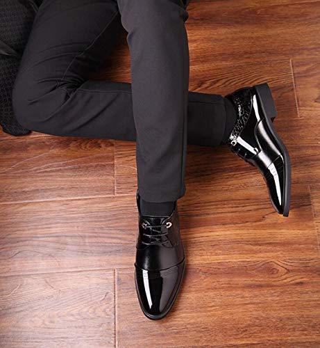 Lace da con da Scarpe Verniciata Uomo Black Pelle Versione e in up Lavoro Autunno LQV da da Primavera Uomo Scarpe d'Affari Coreana Sposa Scarpe della Nuove Scarpe Punta xnZwn4TU