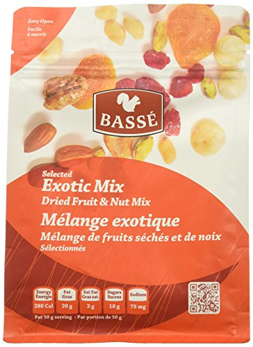 (7oz Exotic Trail Mix from Basse Nuts, Selected Exotic Mix Dried Fruit, Craisin and Nut Mix, with Dried Cranberries, Roasted Peanuts, Roasted Almonds, Roasted Macadamia Nuts, Raw Brazil Nuts & Cashews)