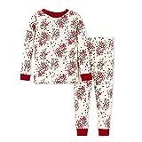 Burt's Bees Baby Baby Girls' Pajamas, Tee and Pant 2-Piece Pj Set, 100% Organic Cotton, Berry & Bright, 12 Months