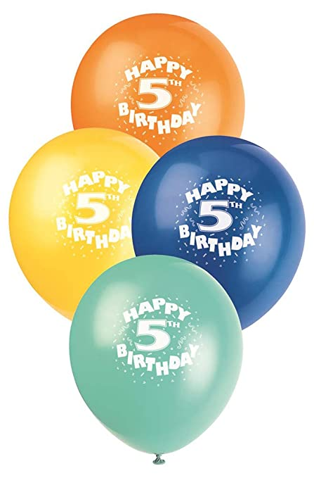 12quot Latex Happy 5th Birthday Balloons