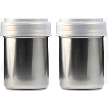 4 x 13oz Sugar Shakers Dispenser Icing Glass Stainless Steel Top Cafe Catering