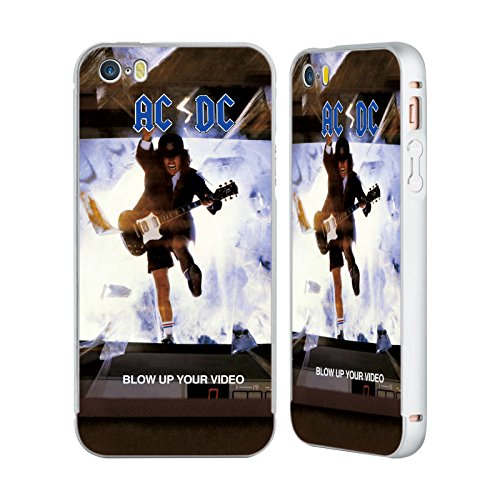 Officiel AC/DC ACDC Faites Sauter Votre Vidéo Couverture D'album Argent Étui Coque Aluminium Bumper Slider pour Apple iPhone 5 / 5s / SE