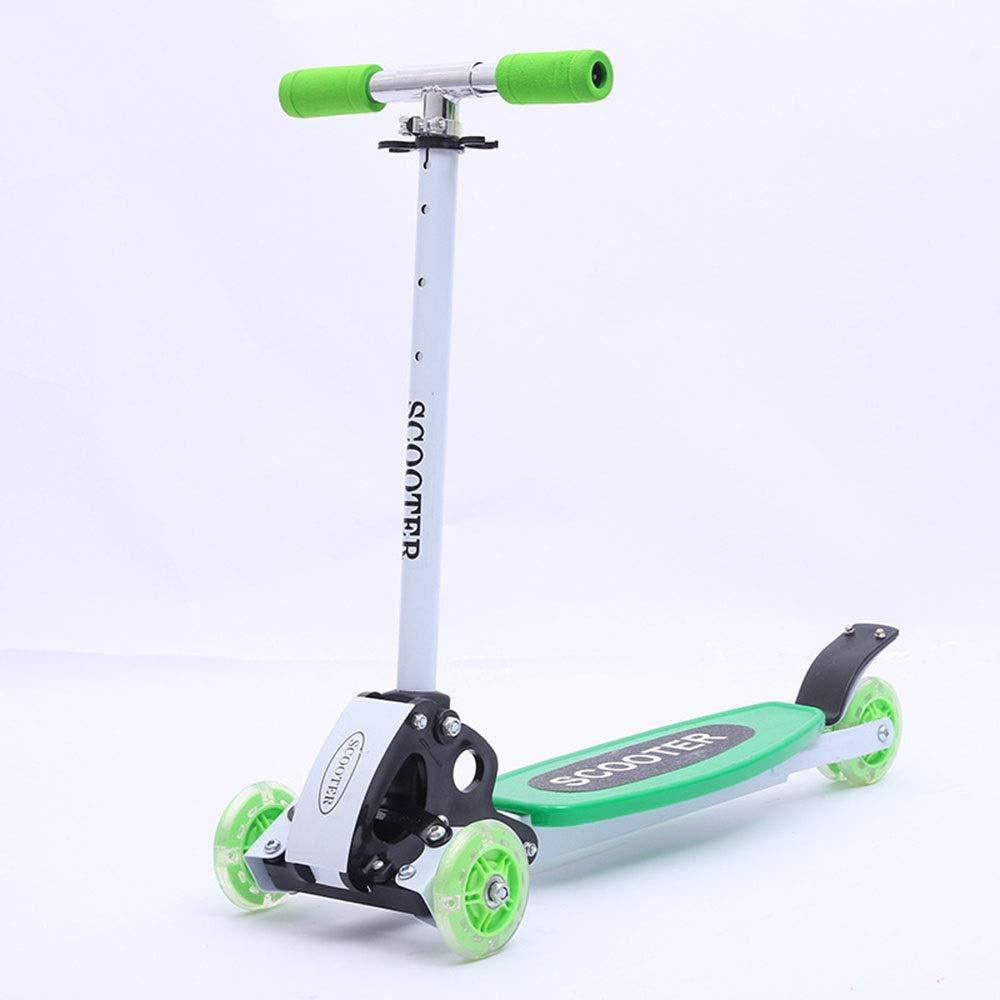 Wink zone 子供の三輪スクーター、三輪スケート、スクーター、子供の贈り物に最適 購入へようこそ ( Color : 緑 )