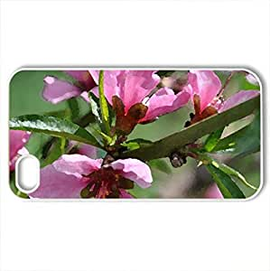 Spring - Case Cover for iPhone 4 and 4s (Flowers Series, Watercolor style, White)