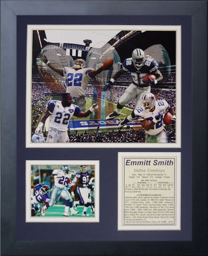 Legends Never Die Emmitt Smith Framed Photo Collage, 11x14-Inch ()
