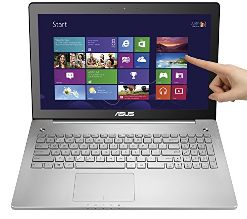 Asus N550JX-DS71T 15.6-Inch Full HD Touchscreen Laptop (Intel Core i7-4720HQ, 8GB DDR3L RAM, 1TB HDD, Windows 8.1), Silver (Best Start Menu Replacement For Windows 8.1)