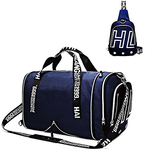 Gym Bags Weekender Overnight Duffel Bag with Shoes Compartment Carry on Travel Tote (Life Weekender)