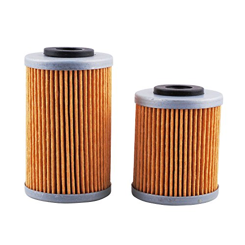 Podoy 450 Oil Filter for KTM EXC 400 520 525 HF155 HF157 1ST&2ND Oil Filters Kit Replace KN-155 KN-157 Filter