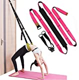 Dance Lower Waist Training, Back Bend Assist Trainer-to Improve Back and Waist Flexibility, Flexibility Stretching Leg Stretcher Strap for Yoga, Ballet, Dancing, Gymnastics Cheerleading (rose)