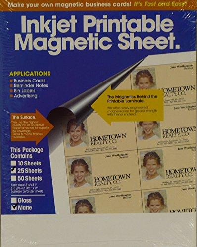 Inkjet Printable Magnetic Sheet Business Cards (Letter Size)