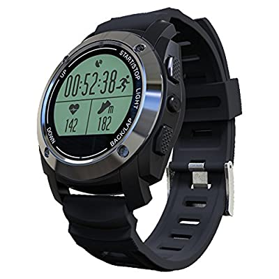 Rookee Smart Watch for Outdoor Sports with Built-in GPS Heart Rate Monitor Professional Sport Modes Water Proof Digital Sports Watch Fitness Tracker