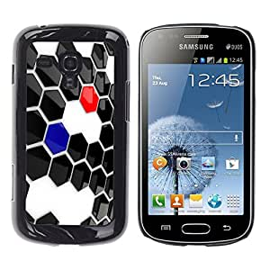 TopCaseStore / la caja del caucho duro de la cubierta de protección de la piel - Abstract Hexagon - Samsung Galaxy S Duos S7562