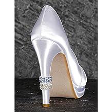 Bulk Buy: Darice DIY Crafts High Heel Crystal Rings 2 Blue, 2 Rhinestone 4 pieces DT0024 by Darice Bulk Buy