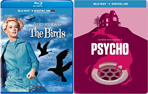 Psycho Steelbook & The Birds Blu Ray Scary Horror DIGITAL HD Thriller Movie Bundle Alfred Hitchcock Collection