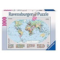 Mapa político político de Ravensburger 15652 - Puzzle de 1000 piezas