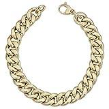 14k Yellow Gold Miami Cuban Curb Hollow Link Mens Bracelet, 8.5''