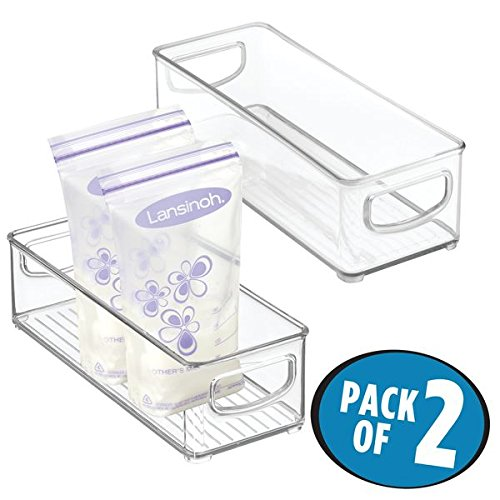 mDesign Breast Milk Organizer Bin - pack of 2