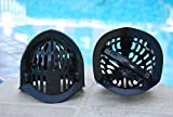 AquaLogix Black All Purpose Omni-Directional Aquatic Bells - Upper Body Pool Exercise Equipment - Includes Online Demonstration Video with 30 Sample Exercises (Bells Pair MRBBS)
